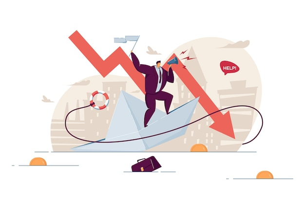 In bancarotta perdendo denaro e affari