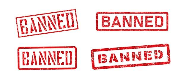 Timbro di gomma del grunge vietato. segno dell'icona di divieto.