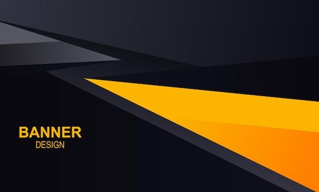 Sfondo banner con triangolo giallo e nero illustrazione vettoriale