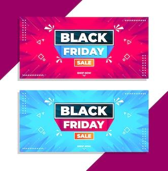 Banner venerdì nero nel moderno modello di progettazione sfumata