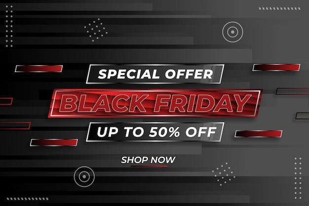 Banner vendita venerdì nero nel modello di design moderno