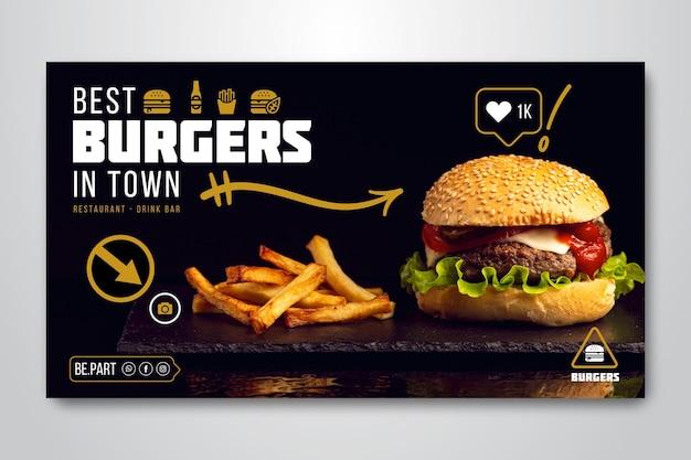 Banner per ristorante di hamburger