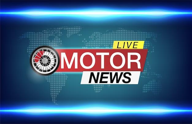 Banner per immagine di notizie di auto di un aspirante ruota