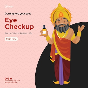 Progettazione di banner di controllo degli occhi visione migliore vita migliore