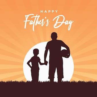 Banner design del modello di festa del papà felice