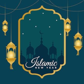 Banner design del modello di capodanno islamico