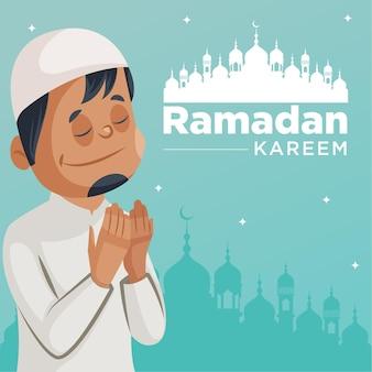 Design della bandiera del festival musulmano ramadan kareem