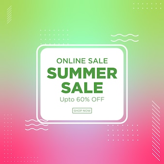 Banner design dei saldi estivi online