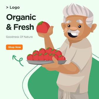 Progettazione di banner di modello organico e fresco