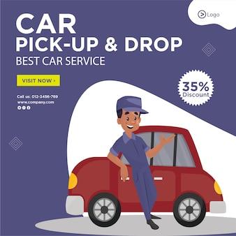 Banner design di pick up and drop miglior modello di servizio auto