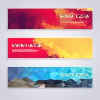 Stile poligono di design banner