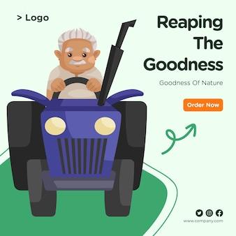 Banner design di raccogliere il modello di bontà