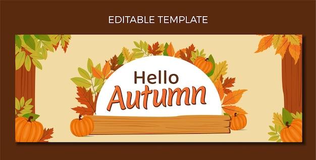 Banner design template hello autum vector