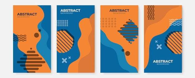 Modelli di design banner in stile semplice e moderno con spazio di copia