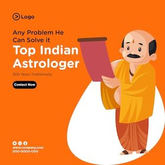 Design della bandiera del miglior astrologo indiano