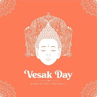 Banner design del modello di stile cartone animato giorno vesak