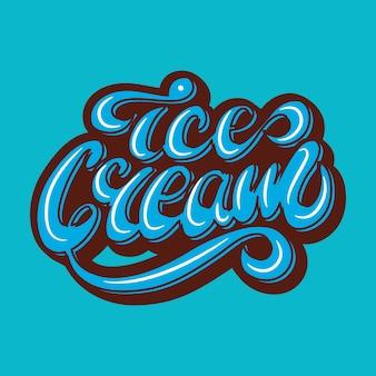 Banner design con lettering gelato. illustrazione vettoriale