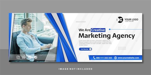 Banner design premium dell'agenzia di marketing digitale