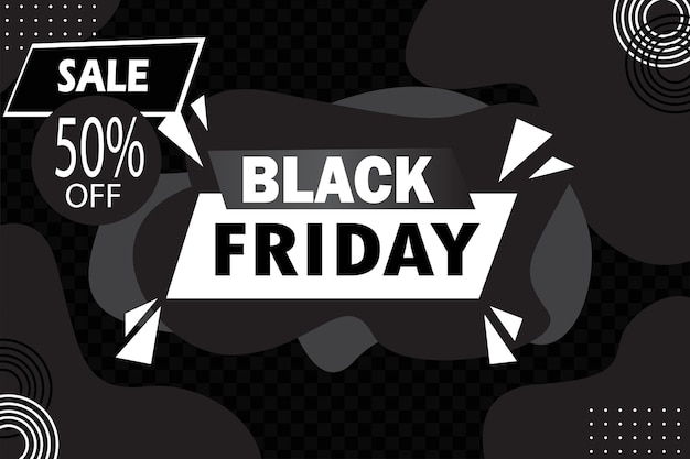 Banner modificabile negozio vendita venerdì nero