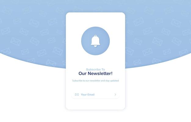 Banner di un email marketing per l'iscrizione alla newsletter