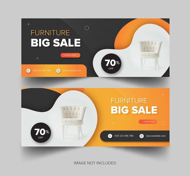 Download gratuito di banner furniture big sale premium