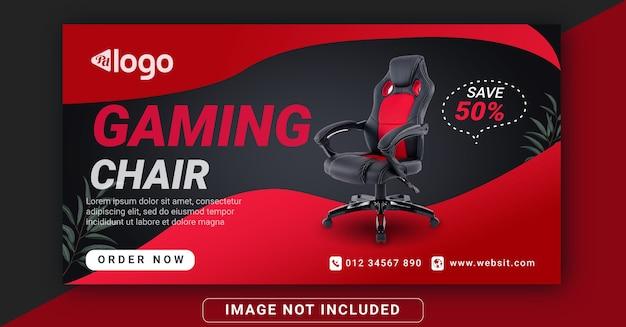 Modello di post sui social media per sedia da gioco banner