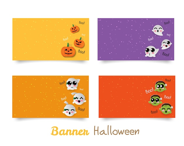 Banner halloween carino