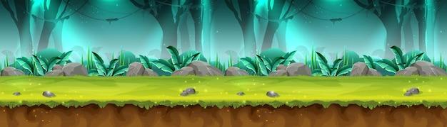 Banner della foresta pluviale misteriosa per il gioco