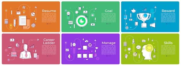 Banner set marketing digitale