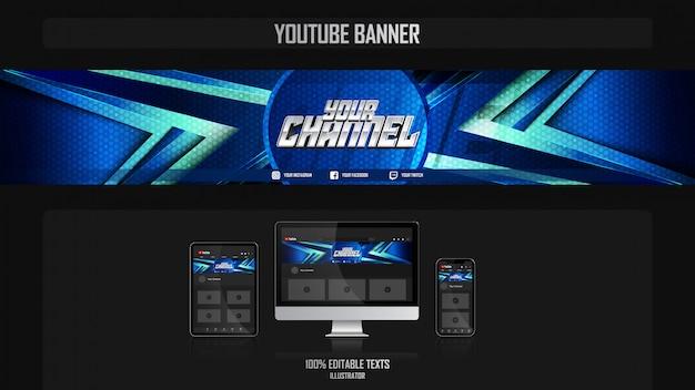 Banner per il canale dei social media con il concetto di crossfit