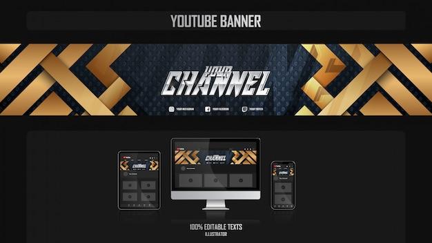 Banner per canale di social media con il concetto futuristico