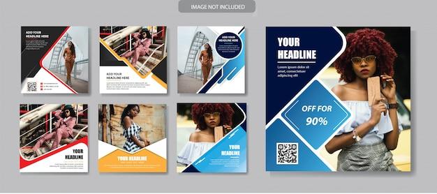 Modello di social media banner per la promozione
