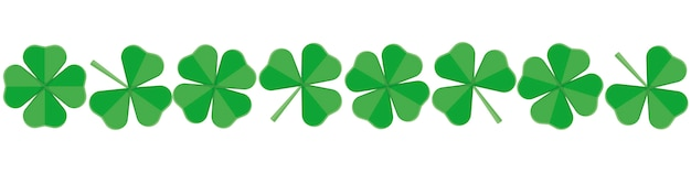 Banner per st.patrick's day of green clover