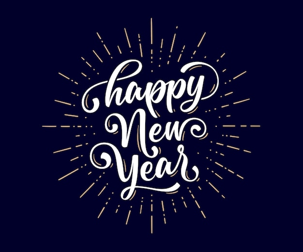Banner con testo felice anno nuovo