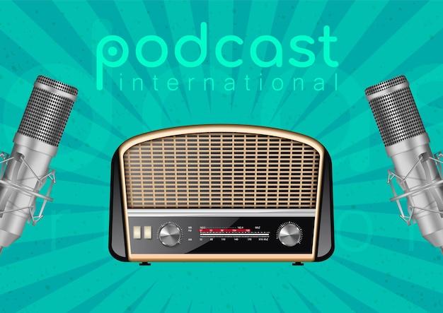 Banner per la giornata mondiale della radio.