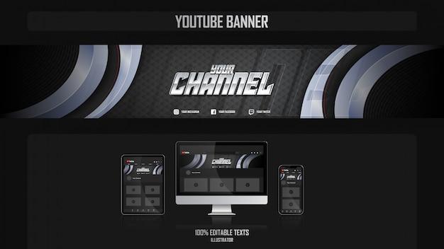 Banner per il canale youtube con il concetto aerobico