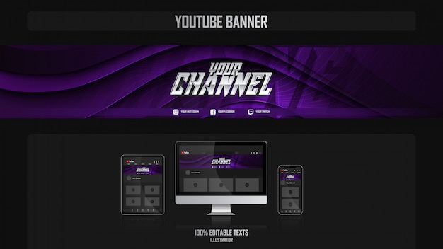 Banner per il canale youtube con il concetto di crossfit
