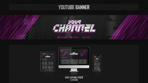 Banner per il canale youtube con il concetto di musica