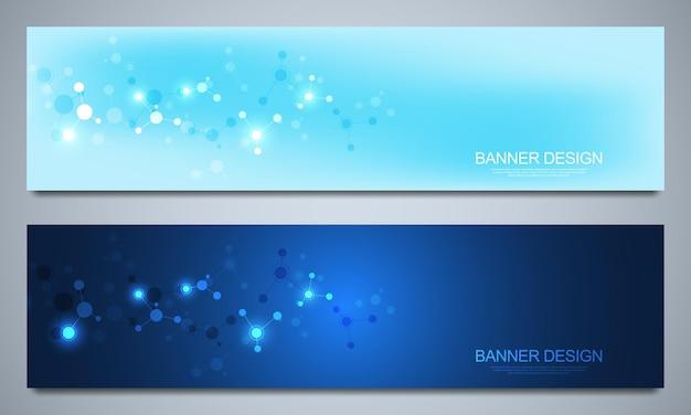 Modello di progettazione di banner per la decorazione sanitaria e medica con icone e simboli piatti