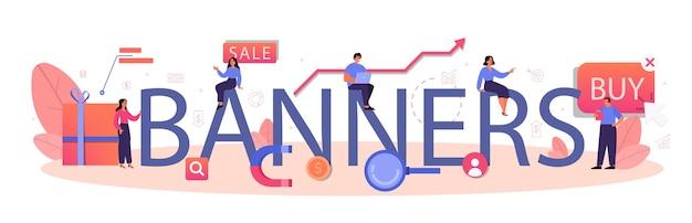 Banner intestazione tipografica illustrazione