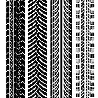 Striscioni con disegno della pista di pneumatici