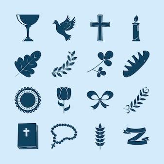 Collezione di icone del battesimo