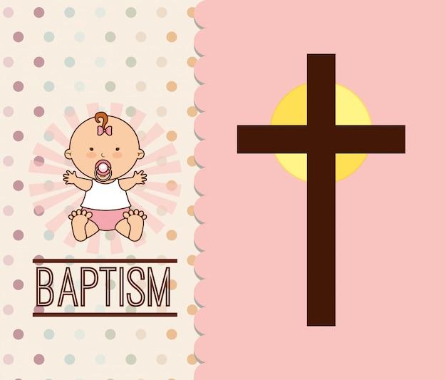 Design dell'invito battesimo