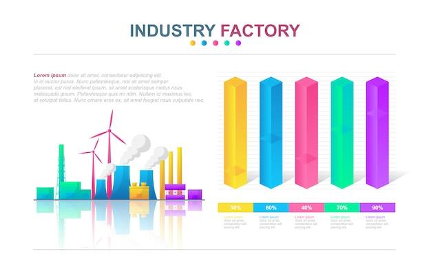 Affare industriale infographic della fabbrica statistica di analisi dei dati del diagramma dell'istogramma