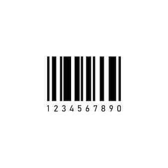 Icona del codice a barre in nero. vettore env 10. isolato su priorità bassa bianca.
