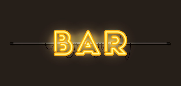 Bar font luci al neon