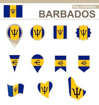 Collezione di bandiere barbados, 12 versioni
