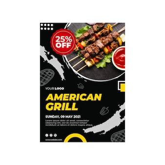 Modello verticale di barbecue flyer