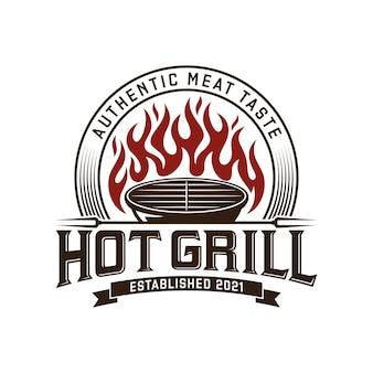 Logo della griglia del barbecue