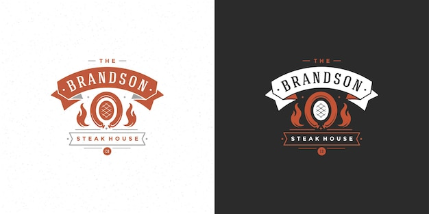Barbecue logo grill house o ristorante barbecue